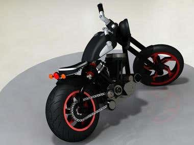 Bike in Solidworks with Rendering