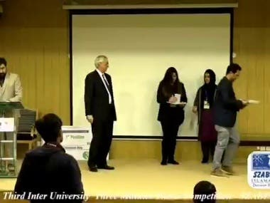 3MT Thesis Competition in Szabaasit University Islamabad,Pak