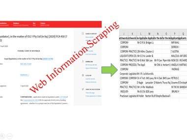 Web Information Scraping