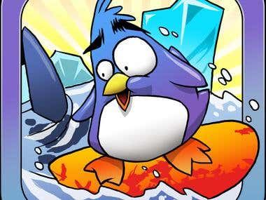 """""""Mobile Game"""" Extreme Penguin Surfing"""
