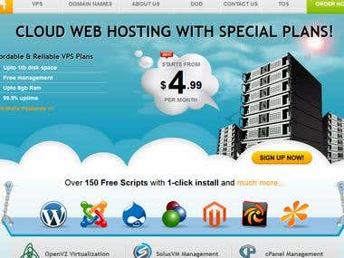 VPSFORT - Template for webhosting.