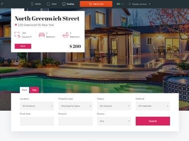 wordpress real-estate website