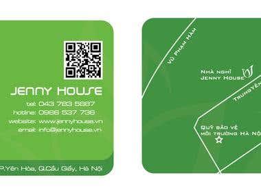 Card and Logo design - Jenny House