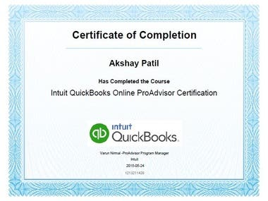 Quick books Certified Pro-Advisor