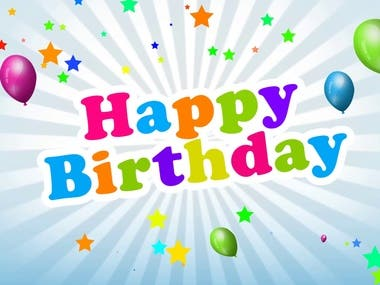Birthday Celebration Video