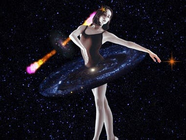 The Cosmic Ballerina (Collage III)