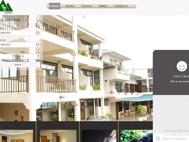 Our designed hotel website