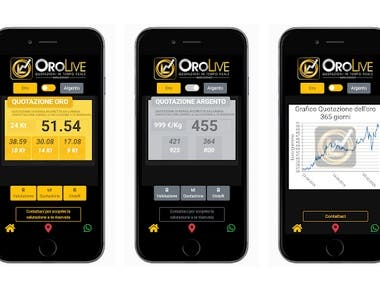 Applicazione Mobile OroLive