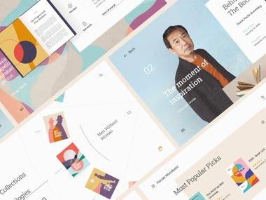 Ecommerce Website animation