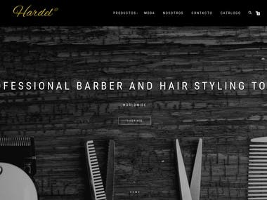 Barber and Hair Salon Online Shop