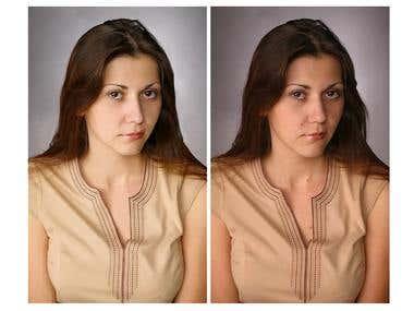 Photoshop image editing work sample