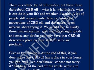 CBD Oil: What It Is And How To Use It!
