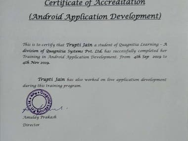 Android Development Certification