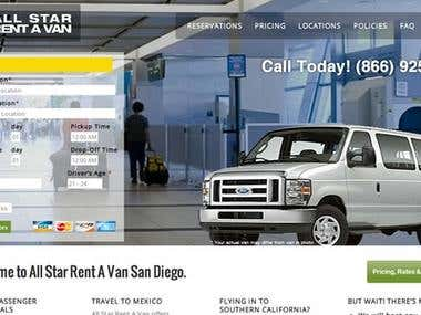 Rent A Van Website