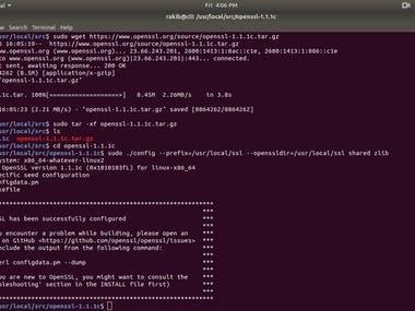 I have installed OpenSSL On Linux Server
