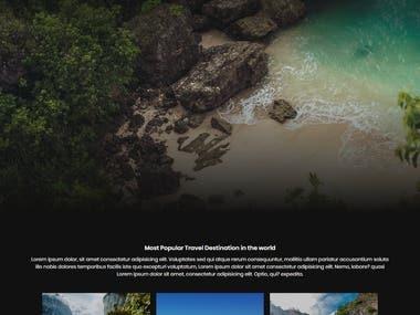 Travel Landing Page - Website Design