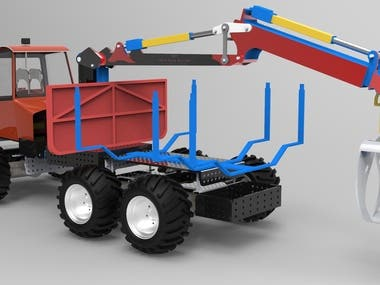 RC Model of Forestry Forwarder