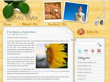WordPress Theme - www.miataylor.com