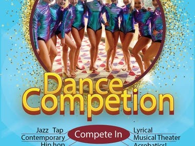 Dance Competition Flyer Design