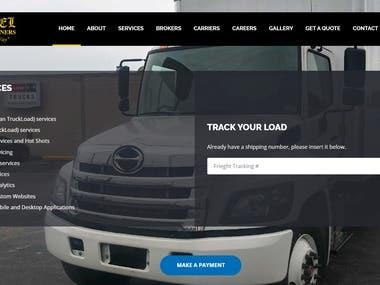 Laravel website on trucking with GPS tracking