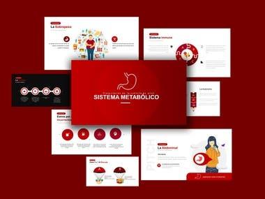 Red ppt design