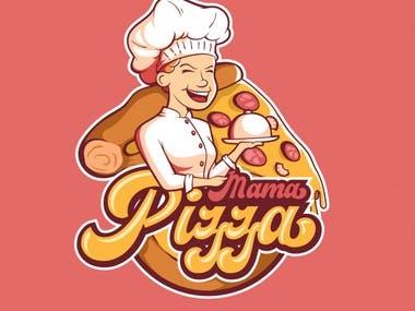 Mama Pizza Logo Design