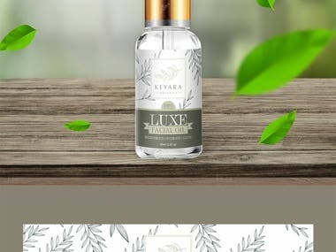Luxury Face Oil Label Packaging