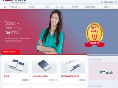 Web Application For Printing Firm Germany