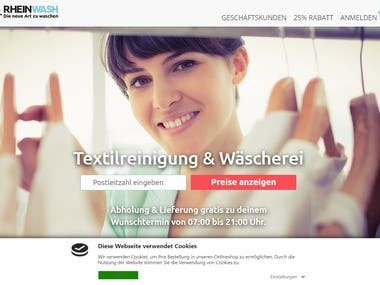 Online Laundry Service web Application for Germany