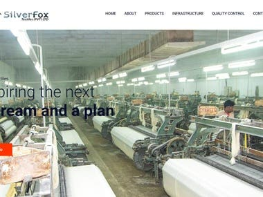 Website for a Textile & Non Woven Products Company