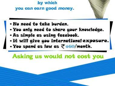 advertisement to student for web blog