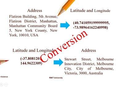 Conversion ( Lat&Long to Address) vs (Address to Lat&Long)