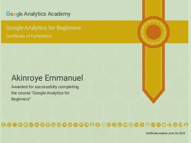 My Certificate of completion