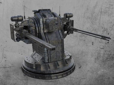 Turret Mount 3D model