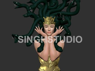 SNAKE LADY SCULPTURE