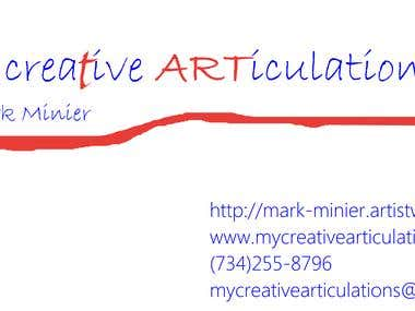My business card and logo.