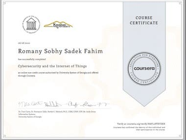 CyberSecurity and IoT accredited certifcate
