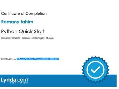 Python Language Certificate