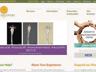 Rape Recovery Center Wordpress site