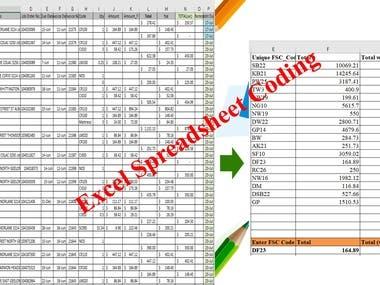 Excel Spreadsheet Coding