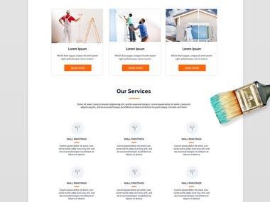 Painter responsive website mockup
