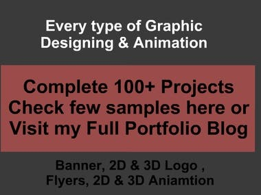 My Graphic Designs (Logos, Flyers, Banners) & Animation