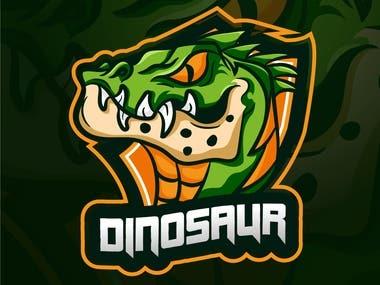 Dinosaur Logo design