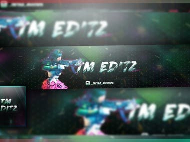 YT Banner and Profile Pic design 1