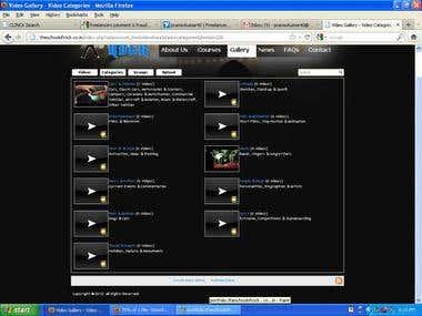 MEDIA GALLERY PORTAL WEBSITE