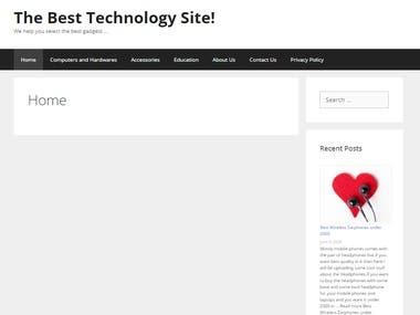 Technology Blogging website