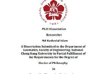 PhD Thesis Paper ( Research Article written in Ms Word)