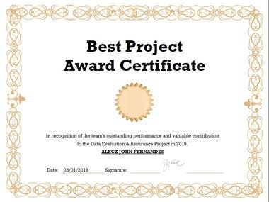 Project Completion and Excellence