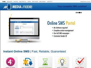 SMS Management Website