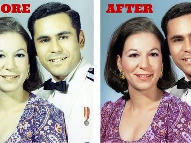 Photo Restoration and Retouching